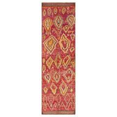 Primitive Vintage Moroccan Rug