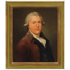 Fine 18th Century Portrait of English Gentleman on Canvas