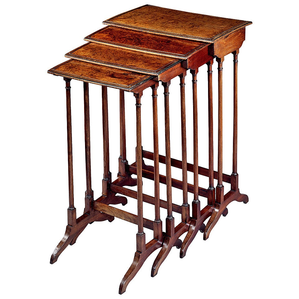 A Regency Nest Of Amboyna Tables 4431501 At 1stdibs