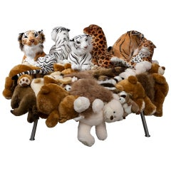 "Fernando and Humberto Campana, ""Cake Stool"", Stuffed Animals, Canvas, Steel"