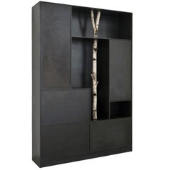 Andrea Branzi, Tree 8, Cabinet, Birch Wood, Patinated Aluminum, 2010