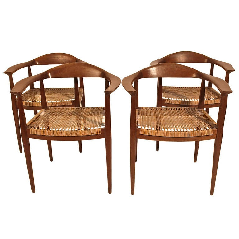 Four Hans Wegner Chinese Chairs At 1stdibs