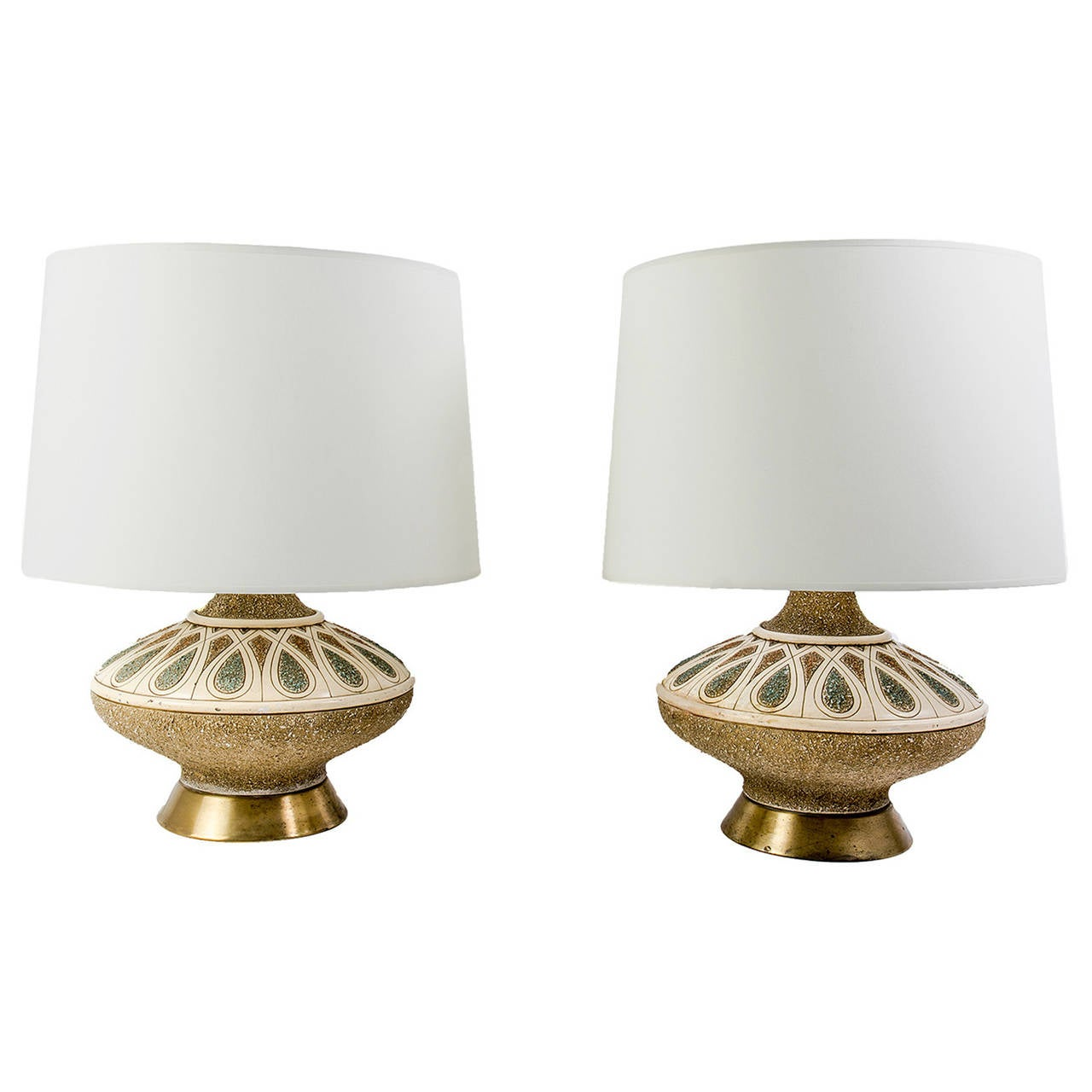 American Art Pottery Table Lamps By The Quartite Creative