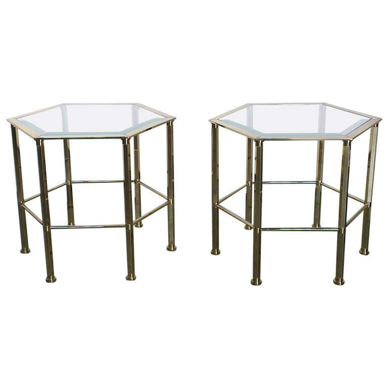 Pair Of Hexagonal Coffee Table At 1stdibs