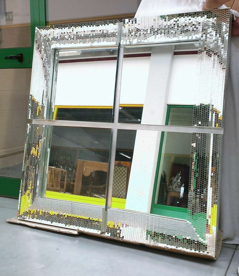 Big Square Mirror With Mosaic Tiles At 1stdibs