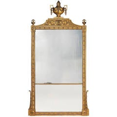 Large George III gilt-wood overmantel mirror, circa 1775-80