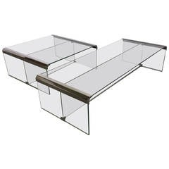 Two Coffee Tables by Fontana Arte, 1970