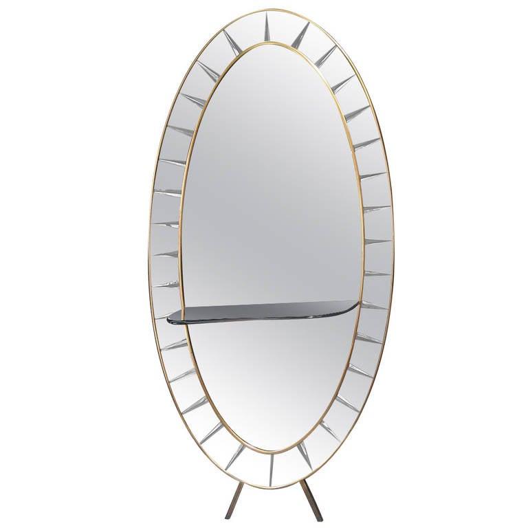 Big cristal art mirror at 1stdibs for Big full length mirror