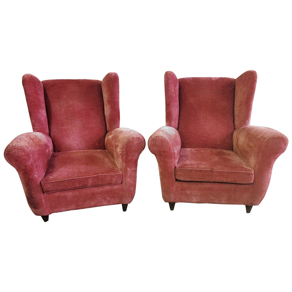Pair of large armchairs at stdibs