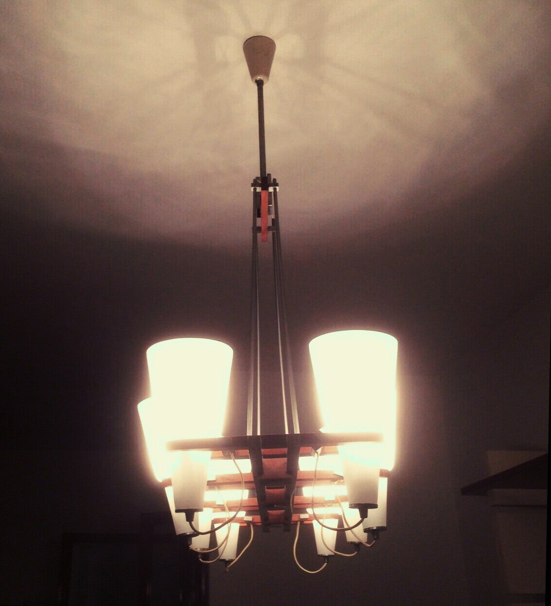 Chandelier attributed to arredoluce 1950 for sale at 1stdibs for Arredo luce