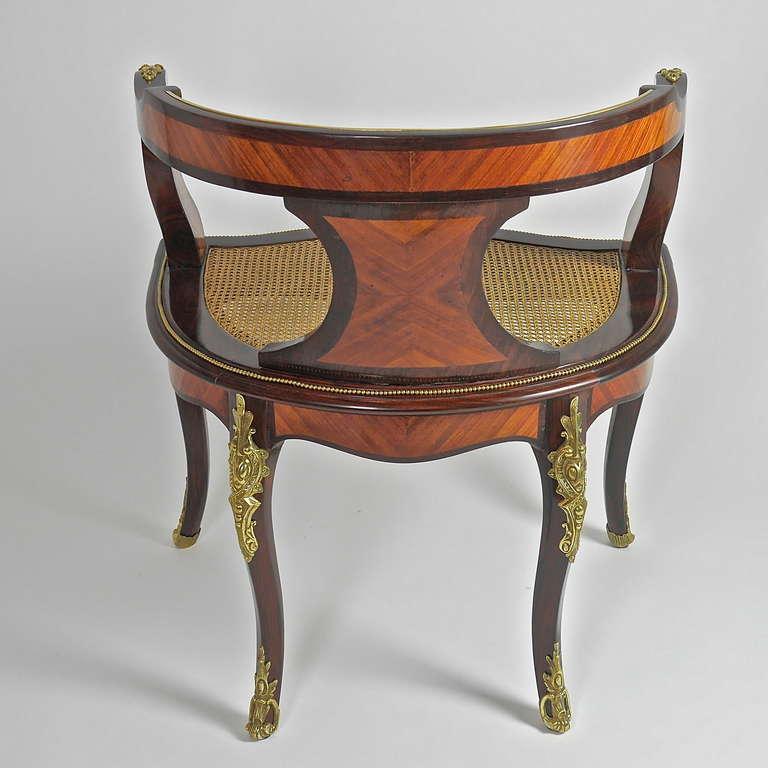 a louis xv style gilt bronze mounted desk chair or fauteuil de bureau at 1stdibs. Black Bedroom Furniture Sets. Home Design Ideas
