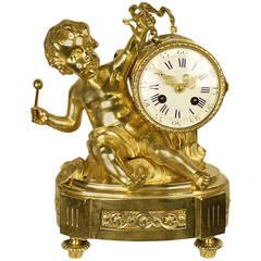 19tes Jahrhundert Bronze Kaminsims Uhr