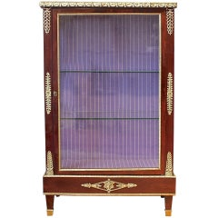 French Mahogany Ormolu-Mounted Louis XVI Style Display Cabinet