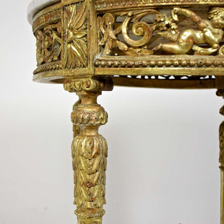 Transition Period Giltwood Center Table 5