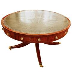 Mahogany Regency Drum Table, circa 1800
