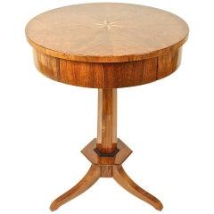 Round Biedermeier Center Table, circa 1820