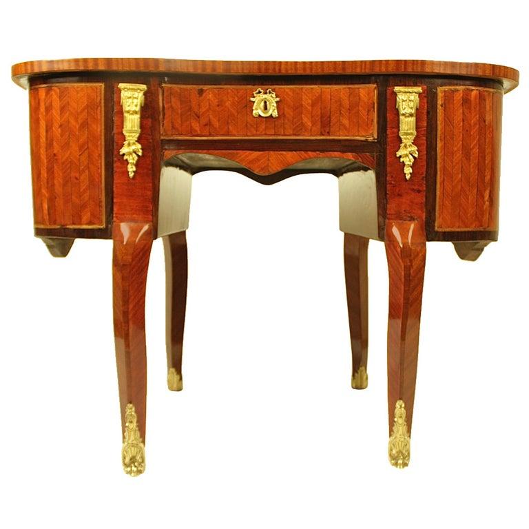 18th Century Louis XV Kingwood, Amaranth and Parquetry Bonheur du Jour or Desk For Sale