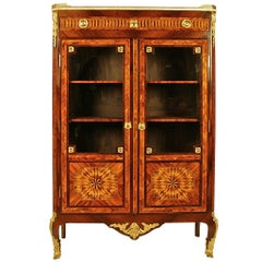 18th Century Louis XV-XVI Transitional Kingwood and Amaranth Vitrine or Library