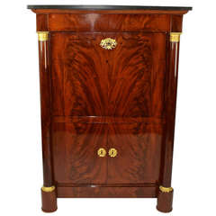 French Empire Mahogany and Ormolu-Mounted Escritoire or Secretaire