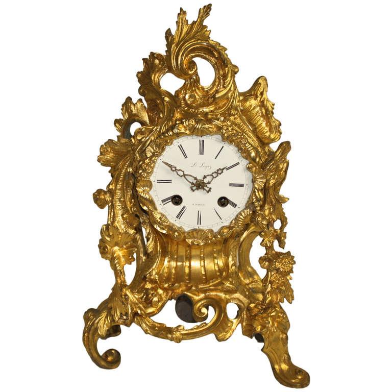 Rococo style ormolu mantel clock at 1stdibs for Rococo decorative style