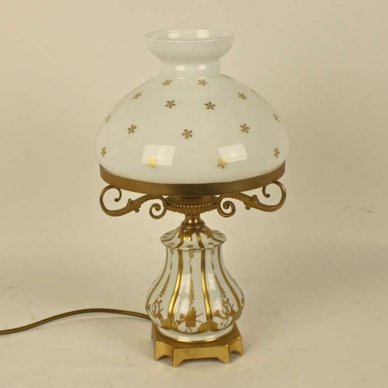 19th century white and gold s vres porcelain table lamp. Black Bedroom Furniture Sets. Home Design Ideas