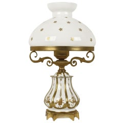 19th Century White and Gold Sèvres Porcelain Table Lamp