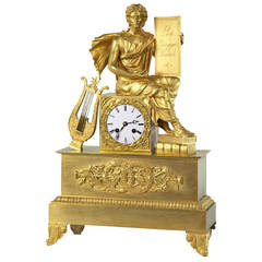 Empire Ormolu Mantel Clock