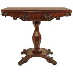 Biedermeier Mahogany Game Table, Berlin circa 1830