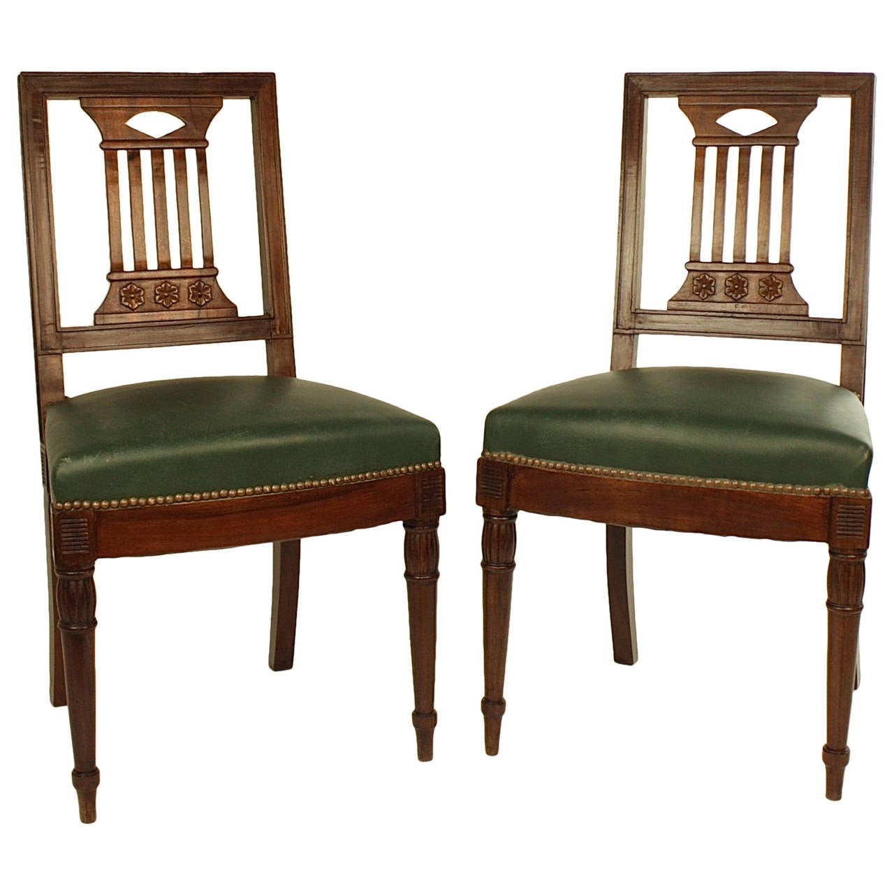 Pair of Early 19th Century Chairs, in the manner of Bellange frere, circa 1810 For Sale