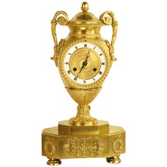 Empire Ormolu Vase-Shaped Mantle Clock