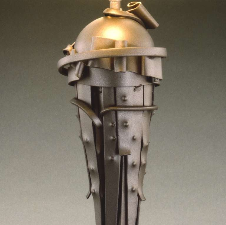 Arts and Crafts Albert Paley Comet Table Lamp, Signed and Dated 1999 For Sale
