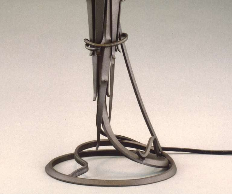 American Albert Paley Comet Table Lamp, Signed and Dated 1999 For Sale
