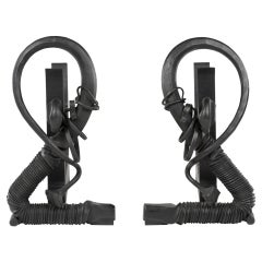 Albert Paley Forged Andirons