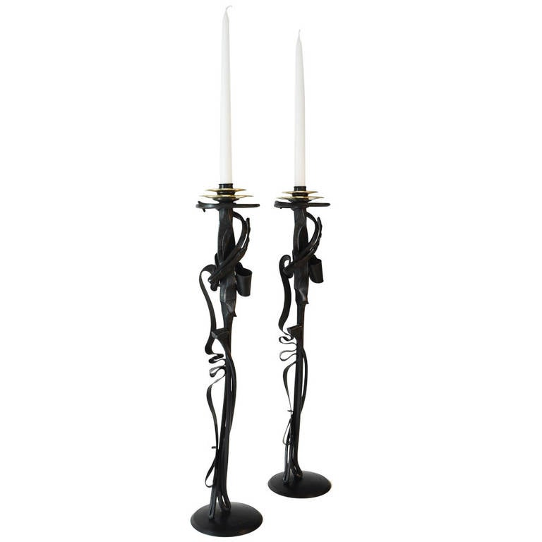 Albert Paley Scepter Candleholders, 2014