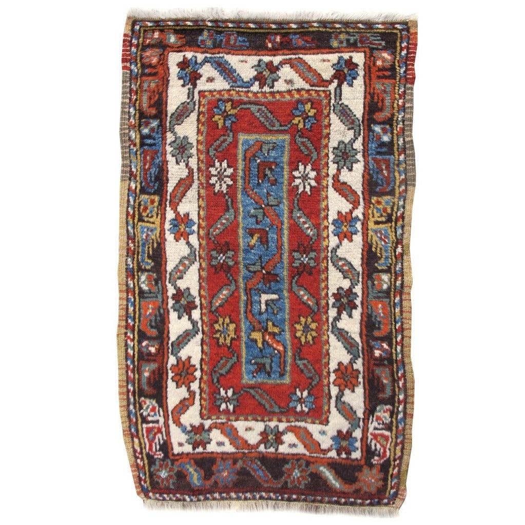 Turkish Yastik Rug: Turkish Karapinar Yastik Rug For Sale At 1stdibs