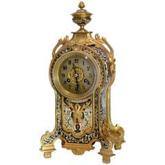 19th Century Gilt-Bronze and Champlevé Enamel Clock