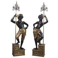Pair of Italian Blackamoor Figures