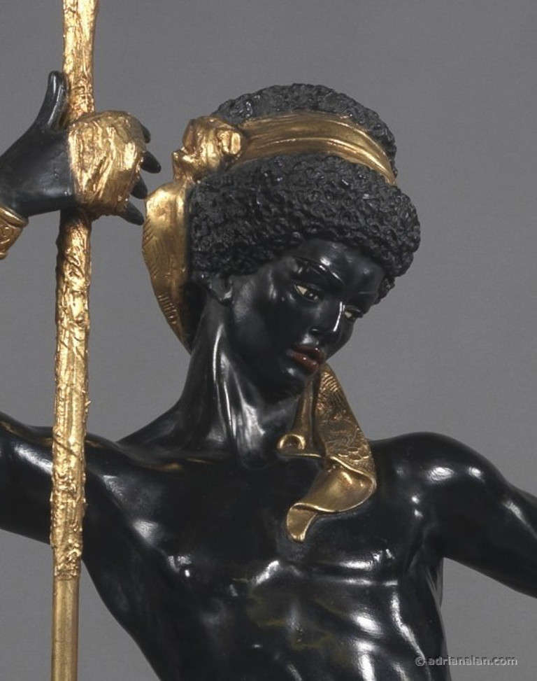 Ebonized Pair of Italian Blackamoor Figures For Sale