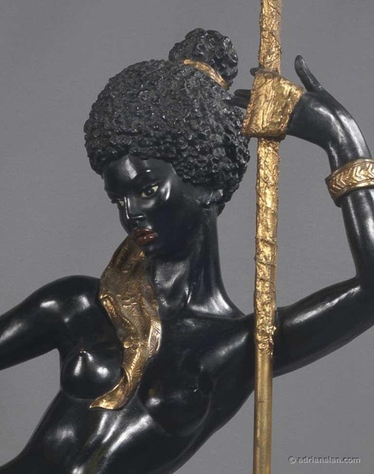 Pair of Italian Blackamoor Figures In Good Condition For Sale In London, GB
