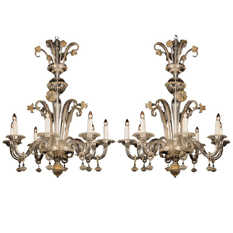 Pair of antique venetian chandeliers for sale at 1stdibs pair of antique venetian chandeliers for sale aloadofball Gallery