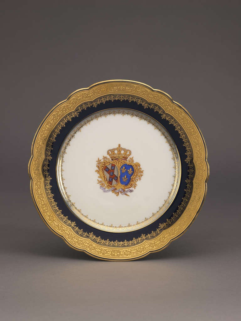 Armorial Dinner Service by Pillivuyt et Cie, French, circa 1886 2