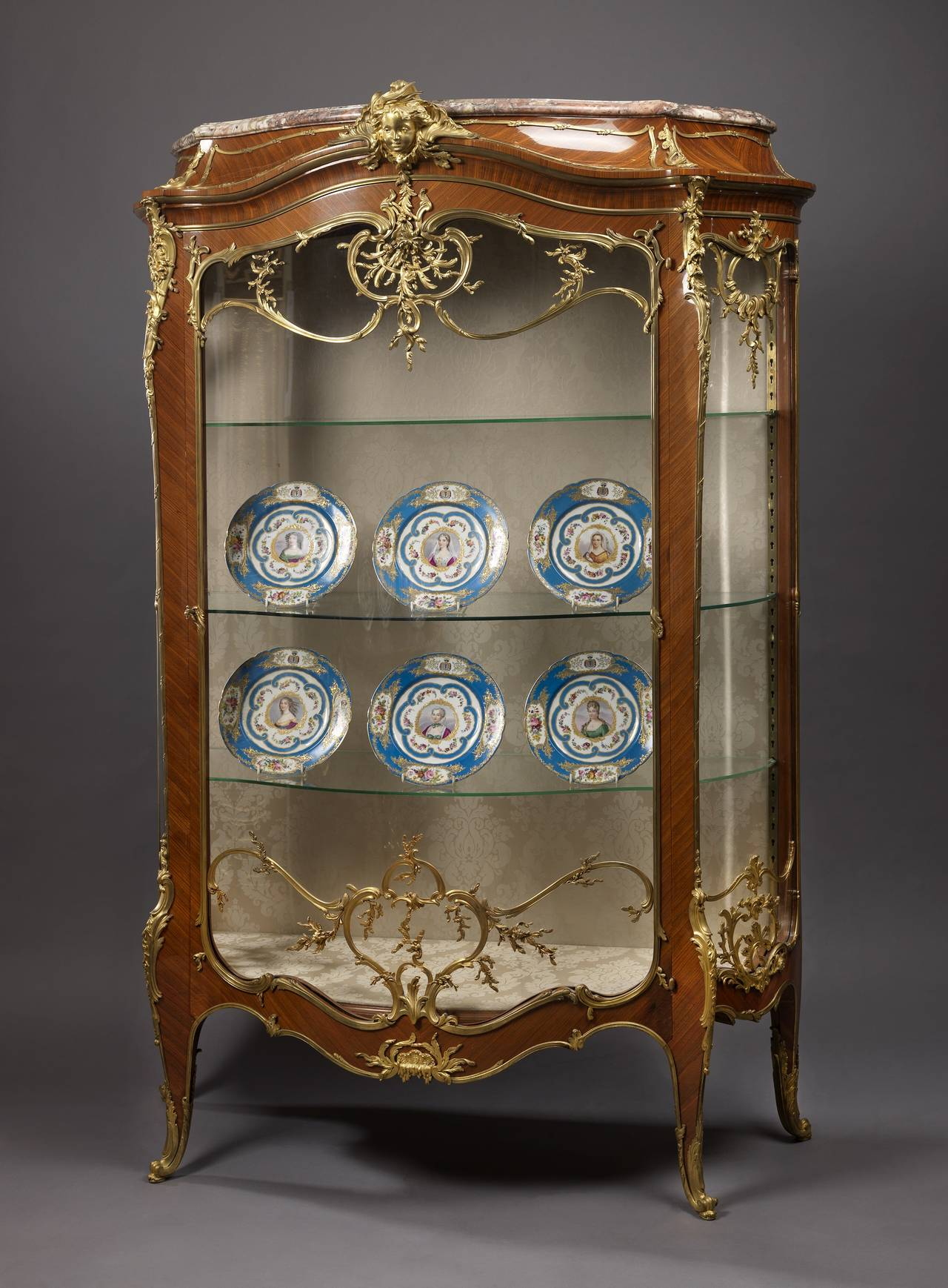 Louis XV Style Exhibition Vitrine by François Linke, French, circa ...