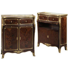 Pair of Gilt-Bronze Side Cabinets by Paul Sormani, circa 1870