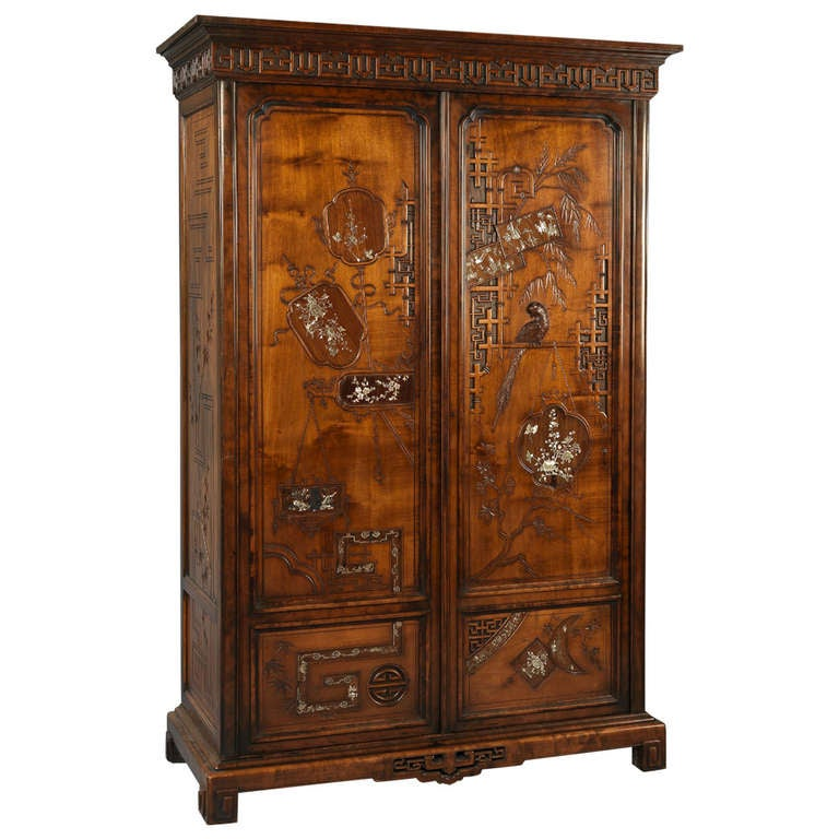 fine armoire by gabriel viardot at 1stdibs. Black Bedroom Furniture Sets. Home Design Ideas