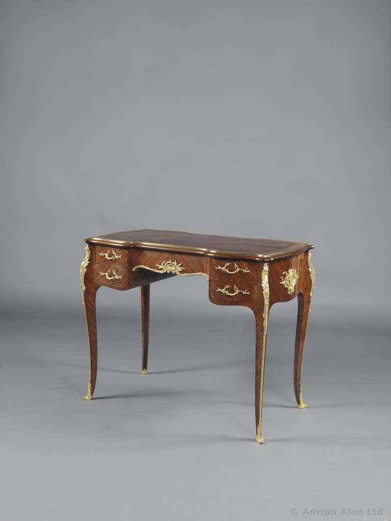 Louis xv style bureau plat de dame by fran ois linke for Bureau louis xv