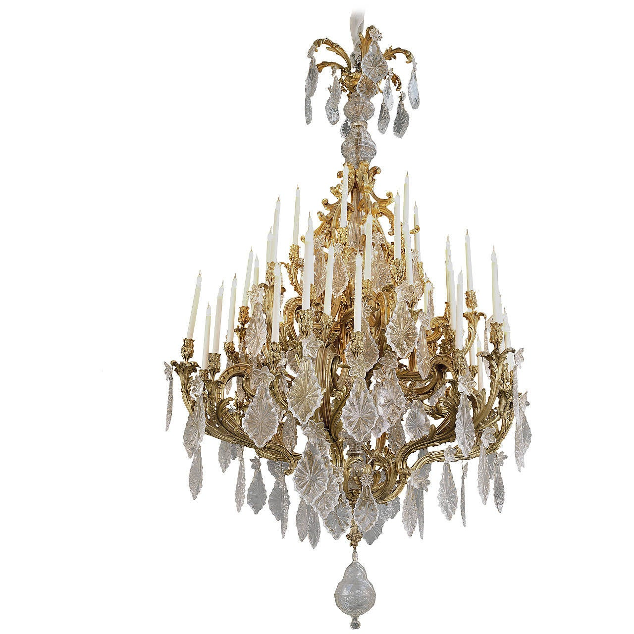 Large Louis XV Style Forty-Eight-Light Chandelier, French, circa 1885 For Sale