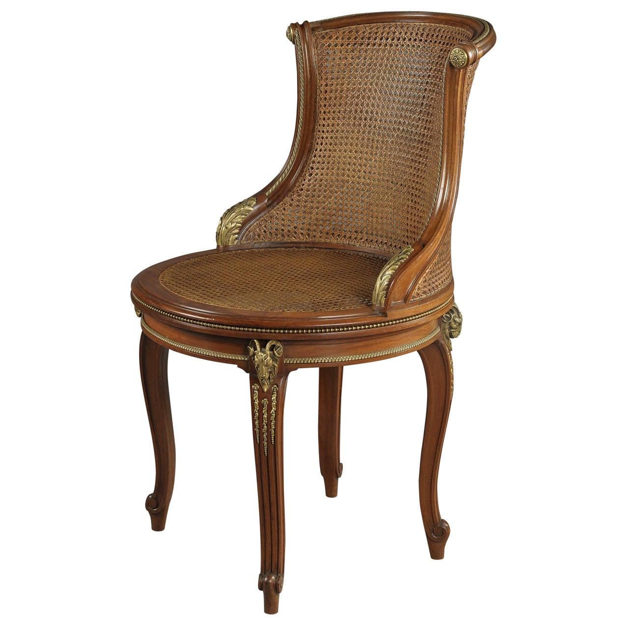 Mahogany Desk Chair by François Linke