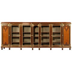 Large Marquetry Bookcase