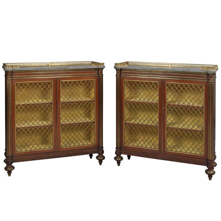 Pair of Regency Dwarf Bookcases