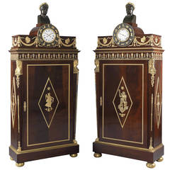 Pair of Empire Style Side Cabinets, French, circa 1880